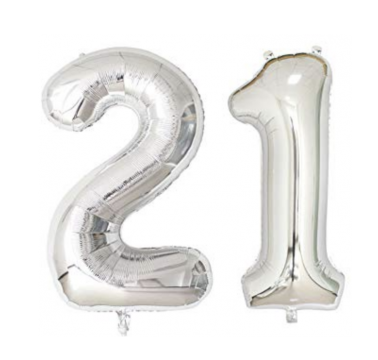 Twenty One Giant Number Balloons